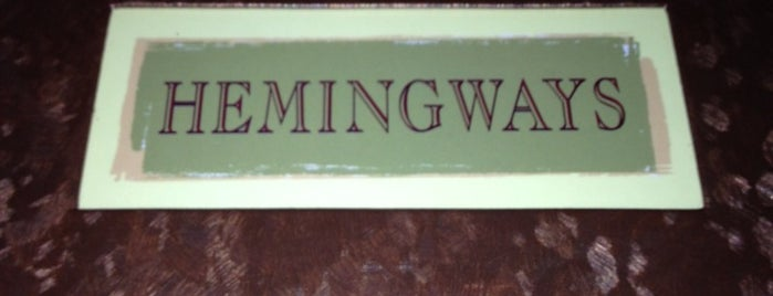 Hemingway's is one of Restaurant.