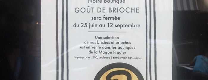 Goût de Brioche par Guy Savoy is one of paris.