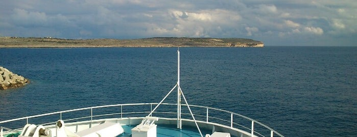 Middle of the Gozo Channel is one of VISITAR Malta.