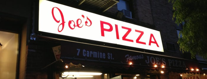 Joe's Pizza is one of New York.