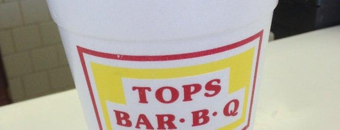 Tops BBQ is one of Lieux qui ont plu à Gordon.
