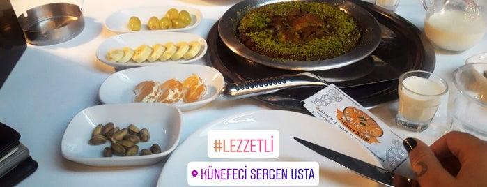 Künefeci Sergen Usta is one of Guclu'nun Beğendiği Mekanlar.