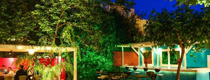 KONG is one of places with garden in athens.