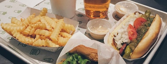 Shake Shack is one of P + A ✈️ NYC.