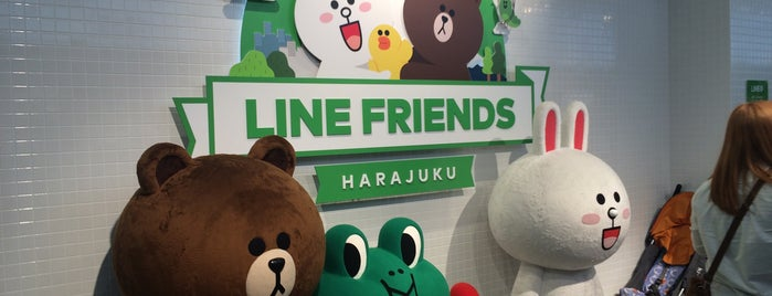 LINE FRIENDS STORE HARAJUKU is one of Tokyo on the JR Yamanote line.