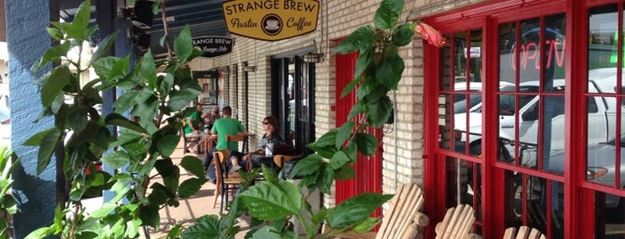 Strange Brew Austin Coffee is one of Patioed Coffee Shops.