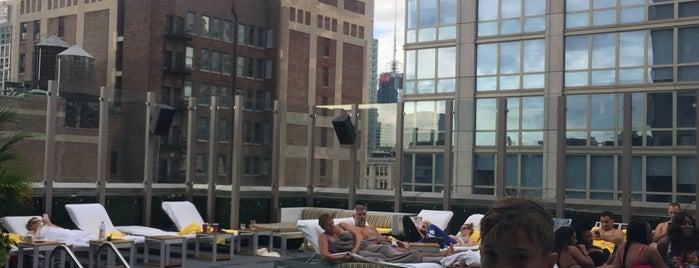 Gansevoort Park Rooftop Pool is one of Locais curtidos por st.