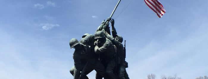 US Marine Corps War Memorial (Iwo Jima) is one of DC Metro.