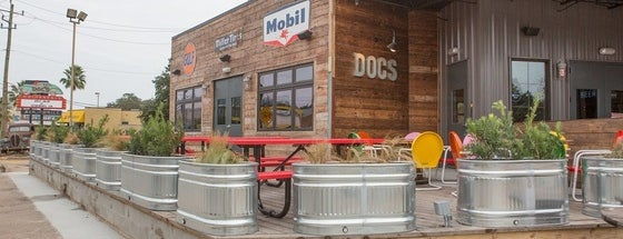 Doc's Motorworks Bar & Grill is one of Great Patios / Outdoor Seating.
