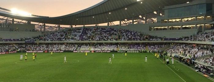 Hazza Bin Zayed Stadium is one of Estadios.