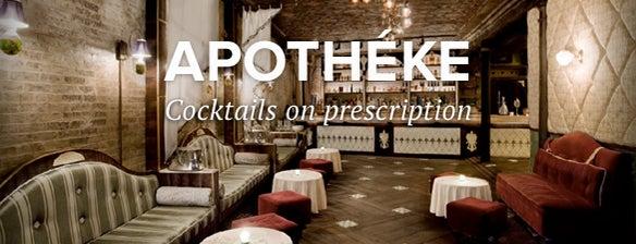 Apothéke is one of #myhints4NewYorkCity.