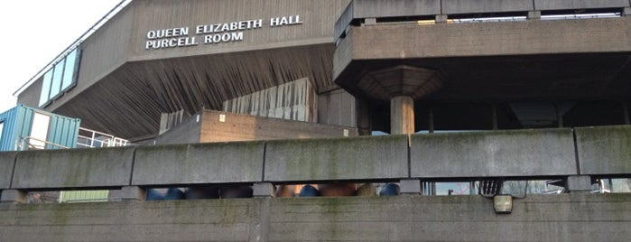 Queen Elizabeth Hall is one of UK to-do list.