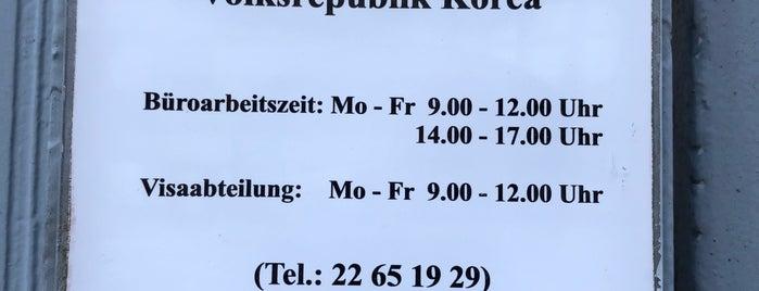 Botschaft der Demokratischen Volksrepublik Korea is one of Berlin.