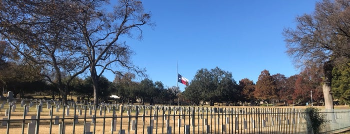 Texas State Cemetery is one of Austin's Historic Sites.