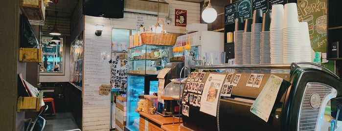 Perkup Cafe and Burger Bar is one of Melbs.