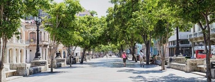 Paseo del Prado (Paseo Marti) is one of Ciudad de La Habana, Cuba.