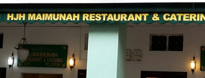 Hjh Maimunah Restaurant is one of Singapore.