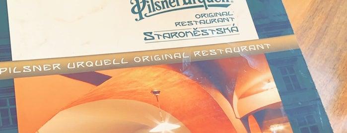 Pilsner Urquell Original Restaurant Staroměstská is one of Lieux qui ont plu à Cristi.