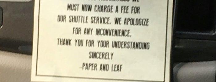 Paper and Leaf is one of สถานที่ที่ Daryn ถูกใจ.