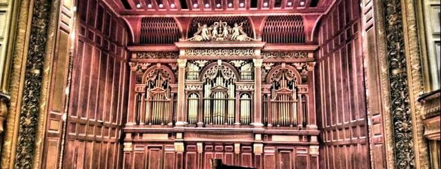 New England Conservatory's Jordan Hall is one of Boston.