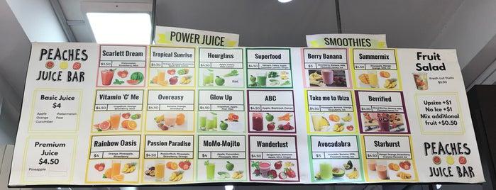 Peaches Juice Bar is one of Tempat yang Disimpan Dara.
