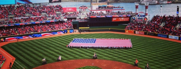 Great American Ball Park is one of Meus lugares.