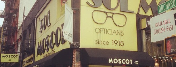 Moscot is one of NYC to-do.