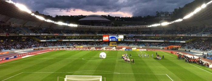 Estadio Municipal de Anoeta is one of Spain BBVA La Liga 2013 - 2014.