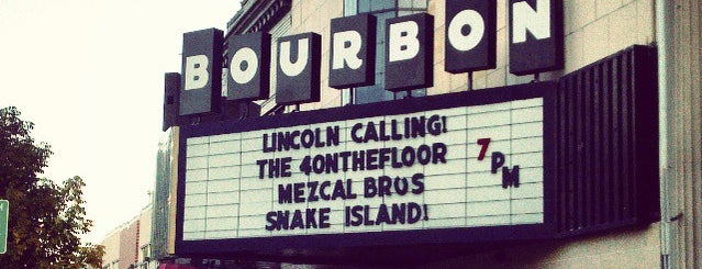 The Bourbon Theatre is one of Lincoln.