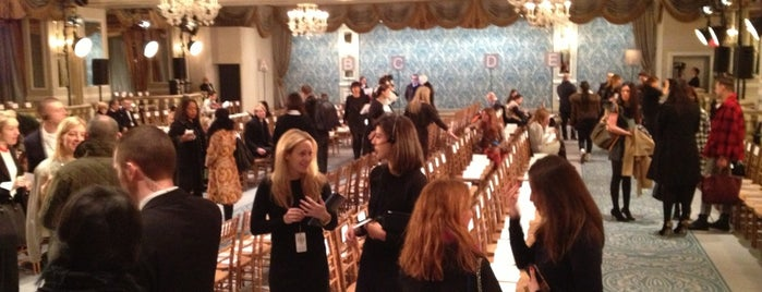 The Pierre is one of NY Fashion Weeks 7-14 Feb 2013 (inactive).