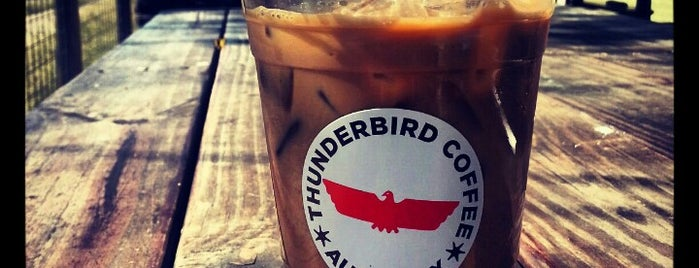 Thunderbird Coffee is one of Best Austin Coffee Houses.