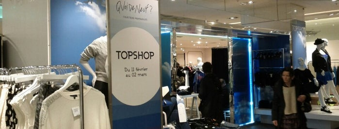 Topshop is one of Paris To Do List.