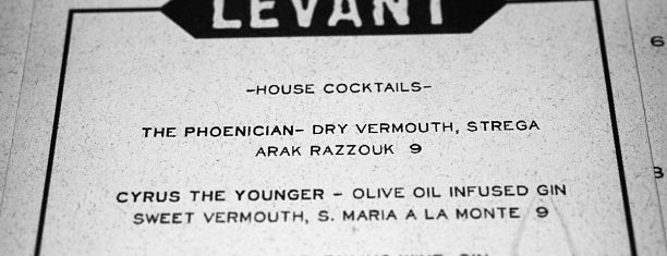 Levant is one of Portland Eater 38.