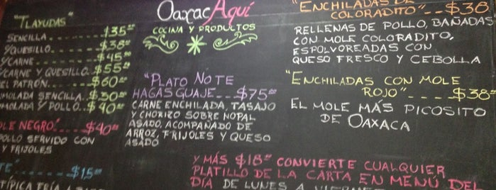 Oaxaca Aquí is one of To-do list.