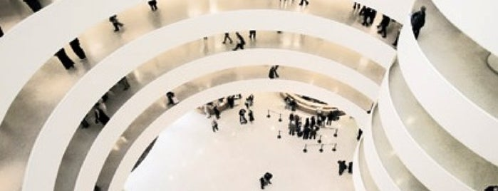 Solomon R Guggenheim Museum is one of 100 Museums to Visit Before You Die.