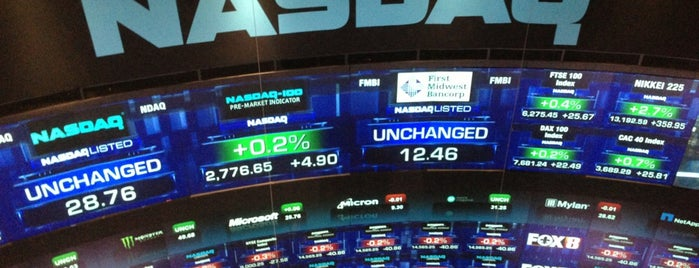 Nasdaq Marketsite is one of Posti salvati di Zach Aarons.