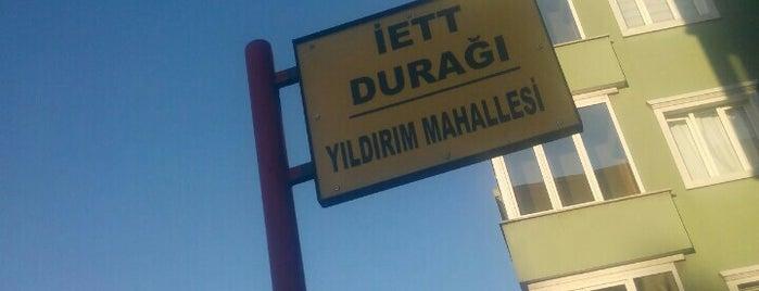 Yıldırım Mahallesi İETT Durağı is one of Mekanlar.