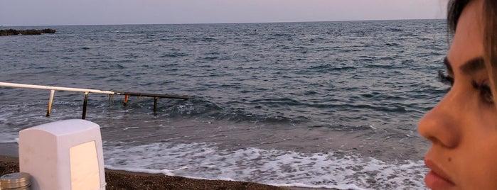 omi beach sahil restaurant is one of antalya.