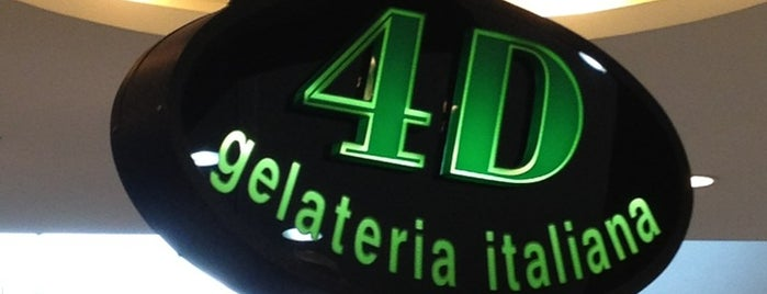 4D Gelateria Italiana is one of Locais salvos de Cláudia.