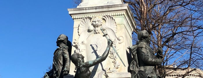 Marquis de Lafayette Monument is one of DC Monuments Run.
