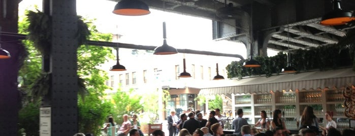 The Biergarten at The Standard is one of Delirious NY.