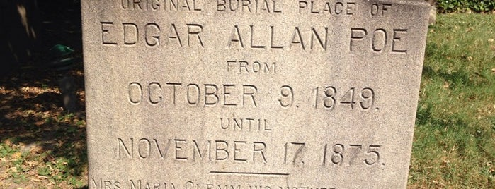 Grave of Edgar Allan Poe is one of Ziggy goes to Baltimore.