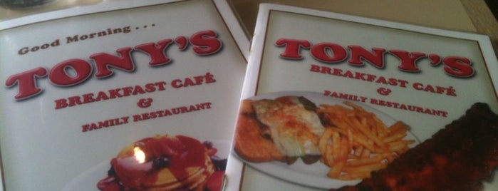 Tony's Family Restaurant is one of Favorites!. :).