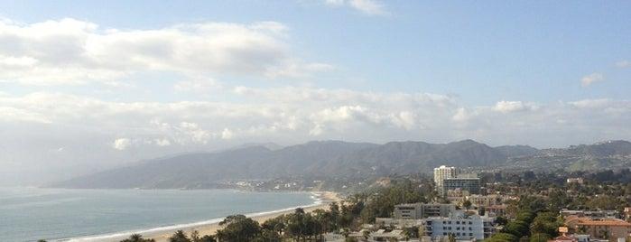 The Huntley Hotel is one of Santa Monica.
