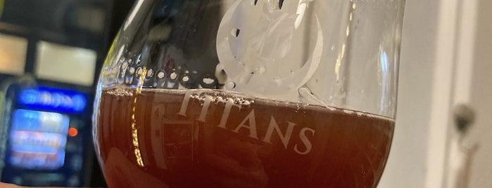 Titans Craft Beer Bar & Bottle Shop is one of Tempat yang Disukai SV.