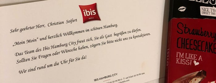 ibis Hamburg City is one of Hamburg 2017.