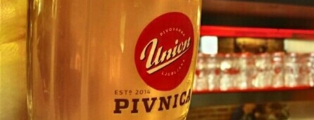 Pivnica Union is one of Lugares favoritos de Kristian.