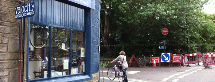 Velocity Cafe and Bicycle Workshop is one of Scotland.