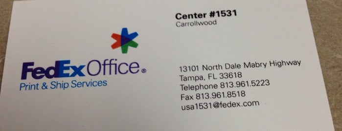 FedEx Office Print & Ship Center is one of AT&T Spotlight on Tampa Bay, FL.