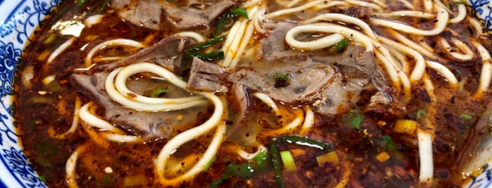 Tongue Tip Lanzhou Beef Noodles is one of Locais curtidos por Riann.